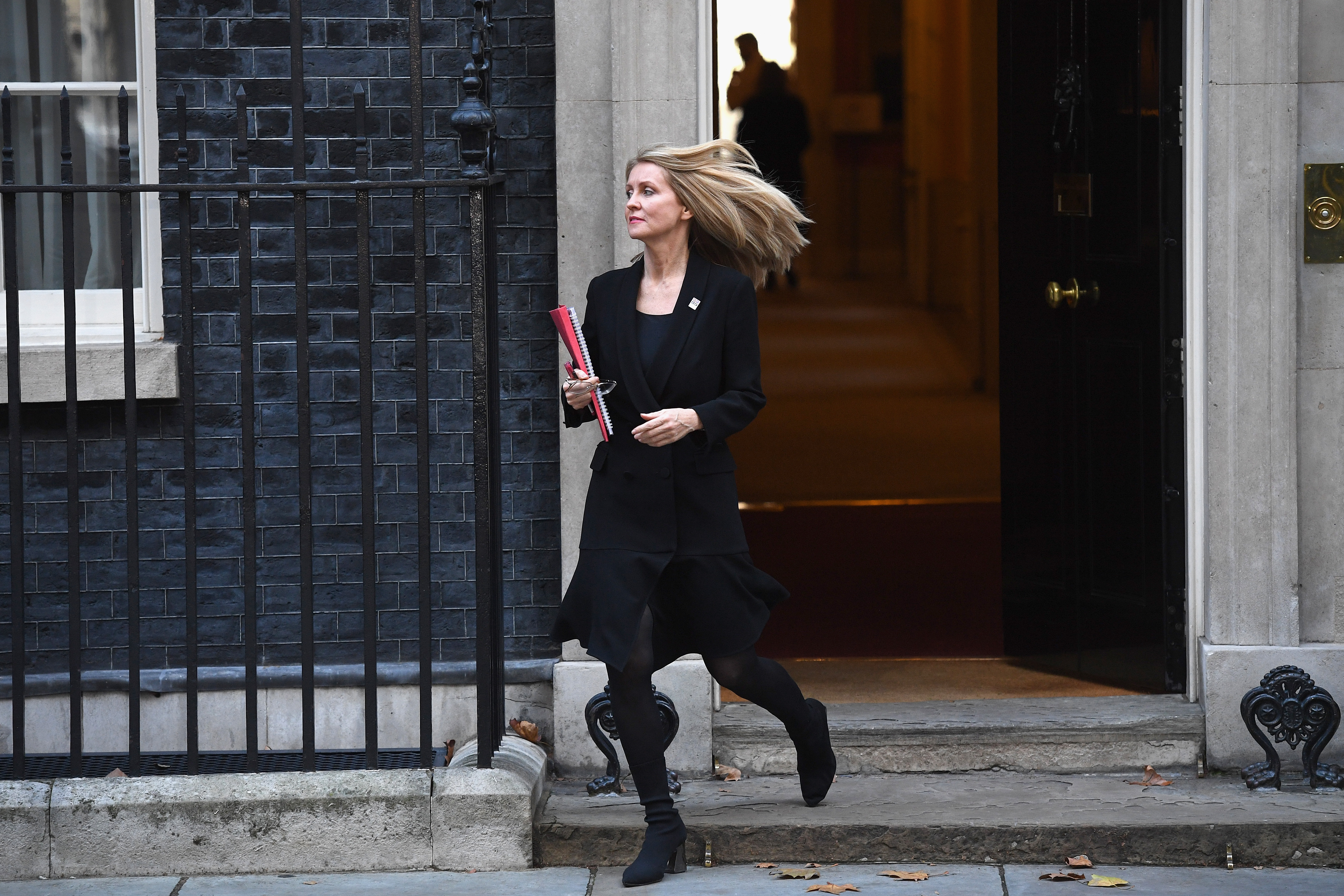 LONDON, ENGLAND - NOVEMBER 13: Work and Pensions Secretary Esther McVey leaves 10 Downing Street on November 13, 2018 in London, England. (Photo by Leon Neal/Getty Images)