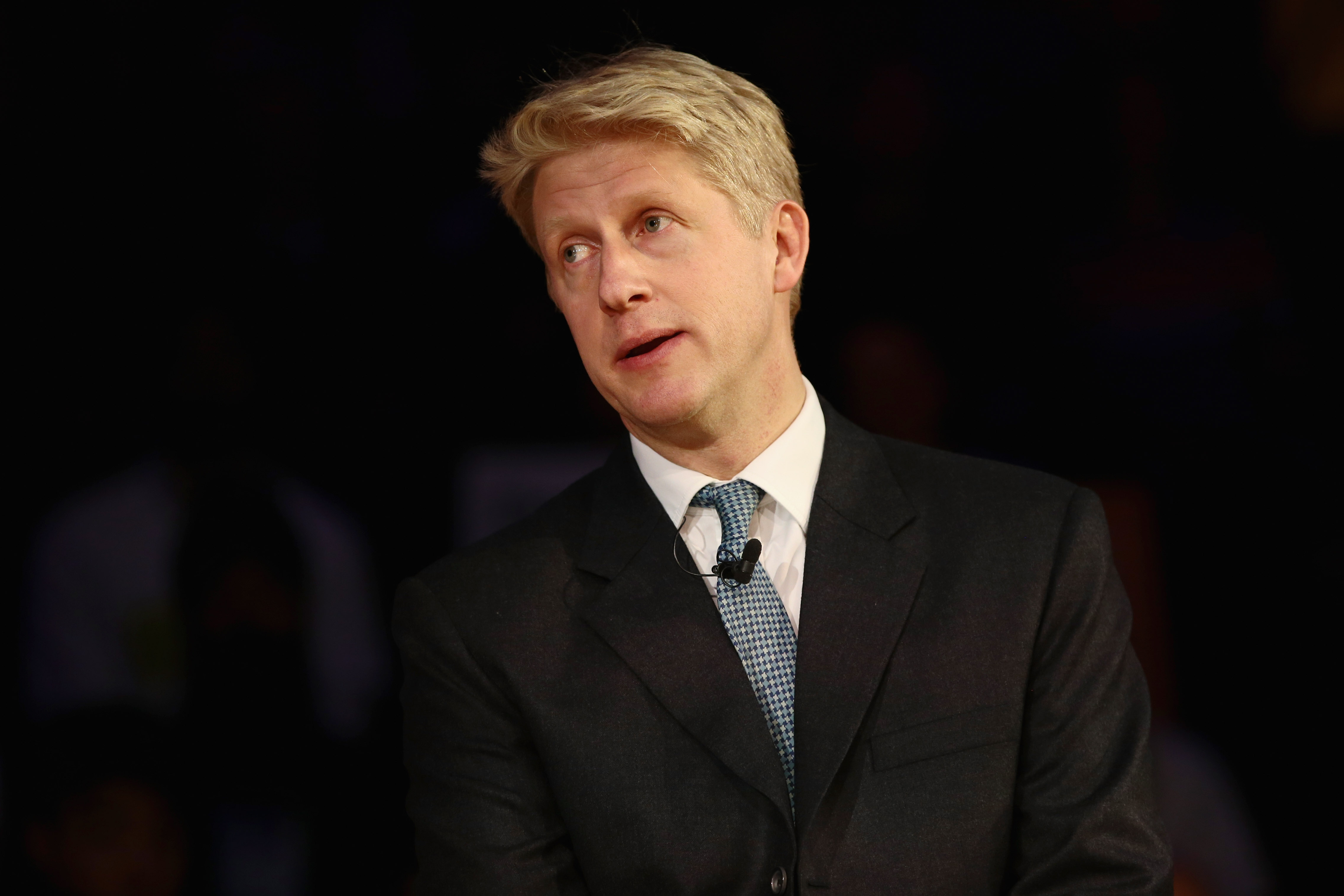 LONDON, ENGLAND - NOVEMBER 14: Secretary of State for Transport Jo Johnson speaks onstage during a pro-remain a rally rejecting the the Prime Minister's Brexit deal on November 14, 2018 in London, England. Anti-Brexit groups 'Best for Britain' and 'The People's Vote Campaign' are holding a joint rally tonight to call on MPs to say they are not buying the Prime Minister's Brexit deal. (Photo by Jack Taylor/Getty Images)