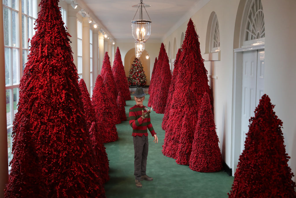Christmas Presence Movie.We Added Horror Movie Icons To The White House Christmas