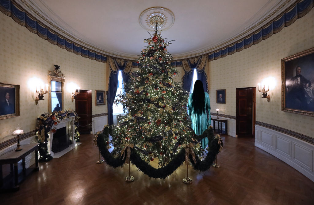 We Added Horror Movie Icons To The White House Christmas