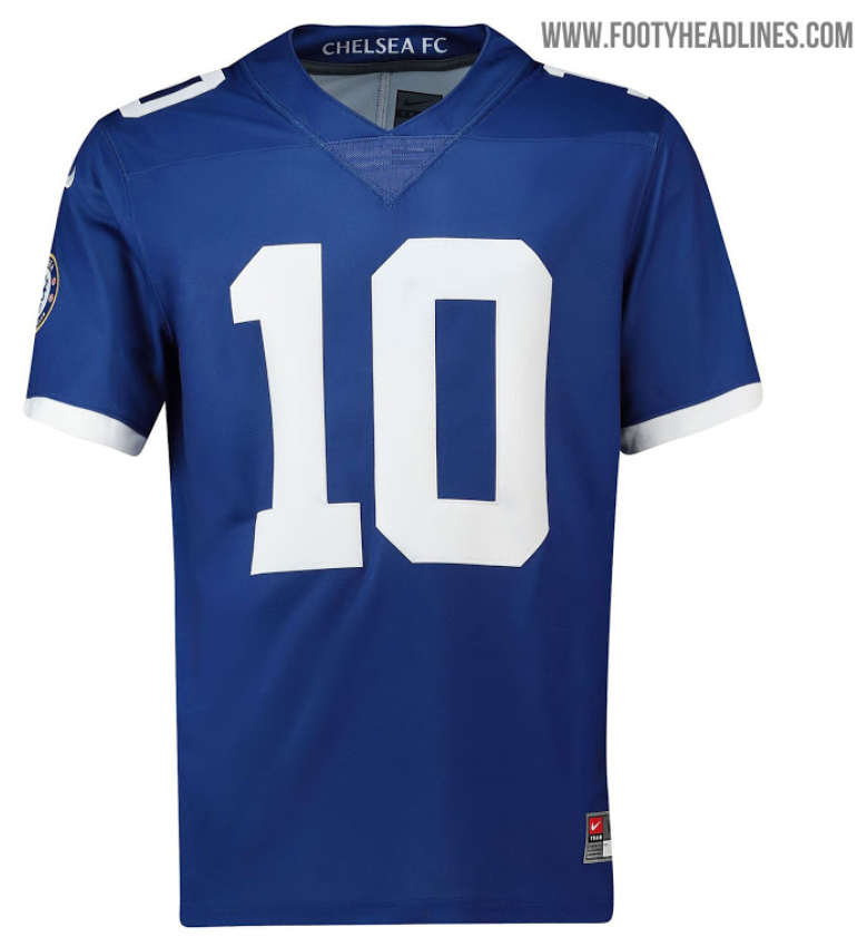 best sneakers 0faa2 6aa93 Chelsea third kit will feature an NFL collar next season ...