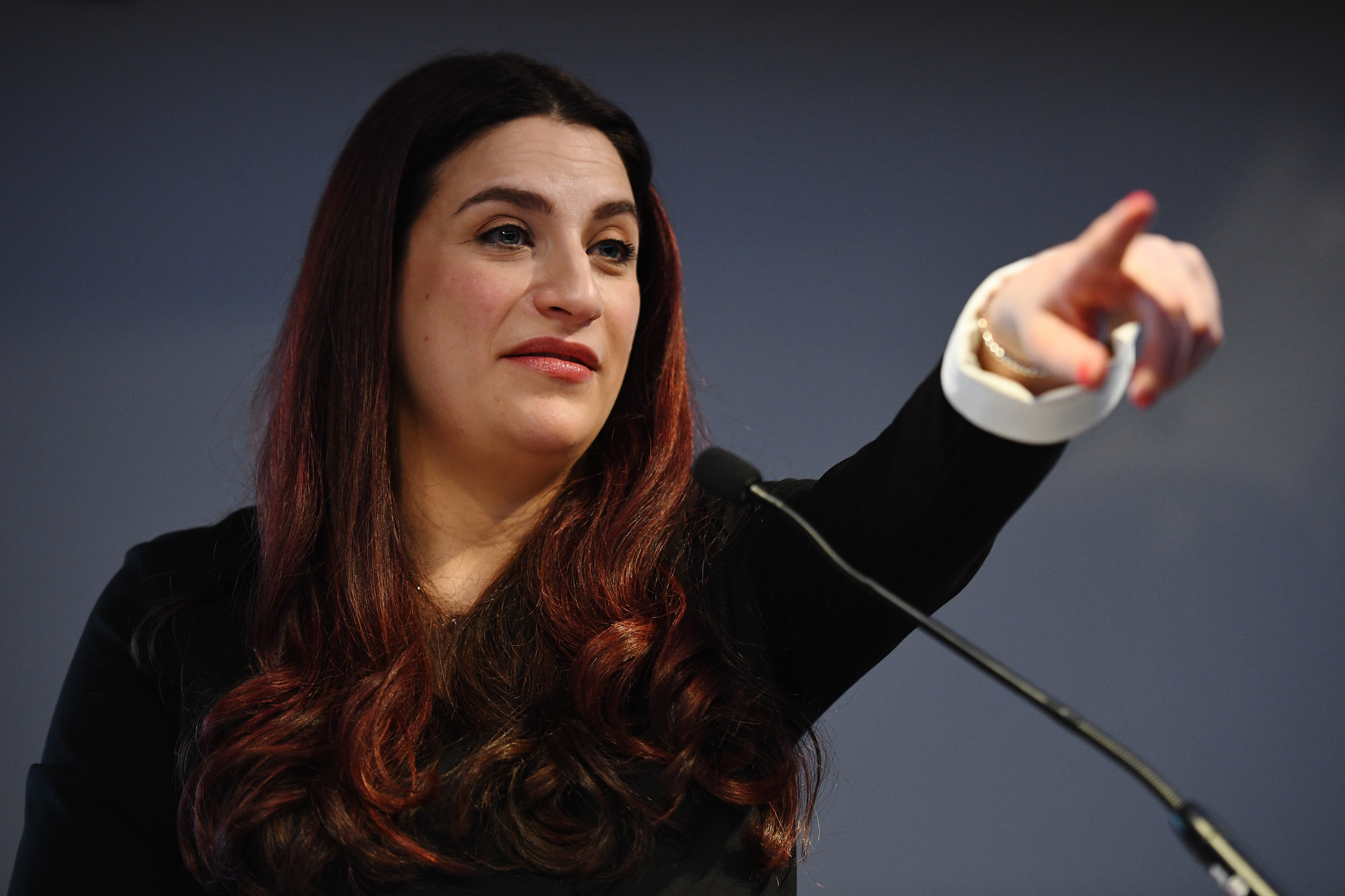 LONDON, ENGLAND - FEBRUARY 18: Labour MP Luciana Berger announces her resignation from the Labour Party at a press conference on February 18, 2019 in London, England. Chuka Umunna MP along with Chris Leslie, Luciana Berger, Gavin Shuker, Angela Smith, Anne Coffey and Mike Gapes have announced they have resigned from the Labour Party and will sit in the House of Commons as The Independent Group of Members of Parliament. (Photo by Leon Neal/Getty Images)