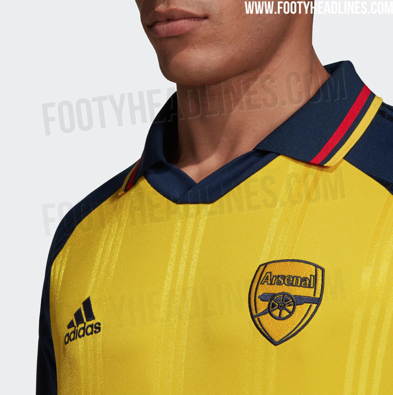 official photos 4fdd1 dae29 New Arsenal Adidas Yellow