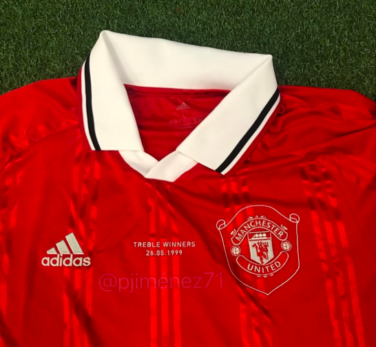 291c8a3e4 Manchester United retro jersey  leaked photos of 1999 remake ...
