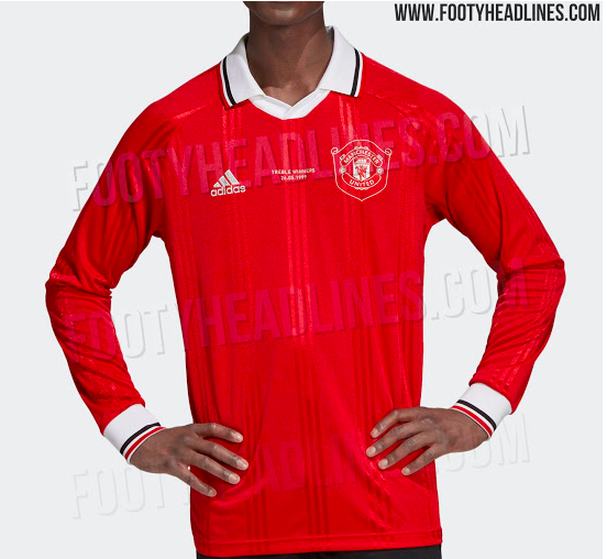 48e018224 Manchester United retro jersey  leaked photos of 1999 remake ...