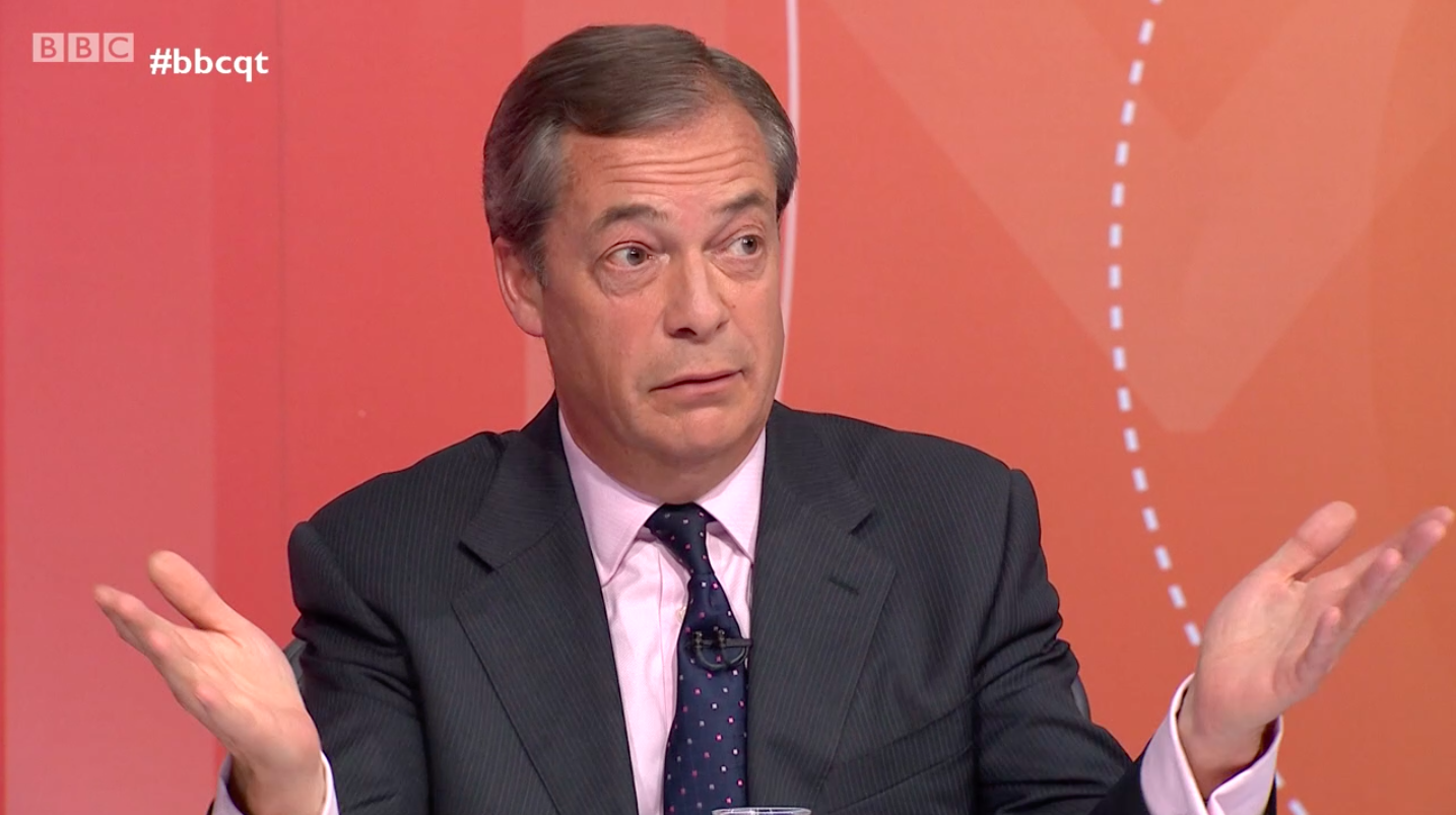 Nigel Farage is confused on Question Time