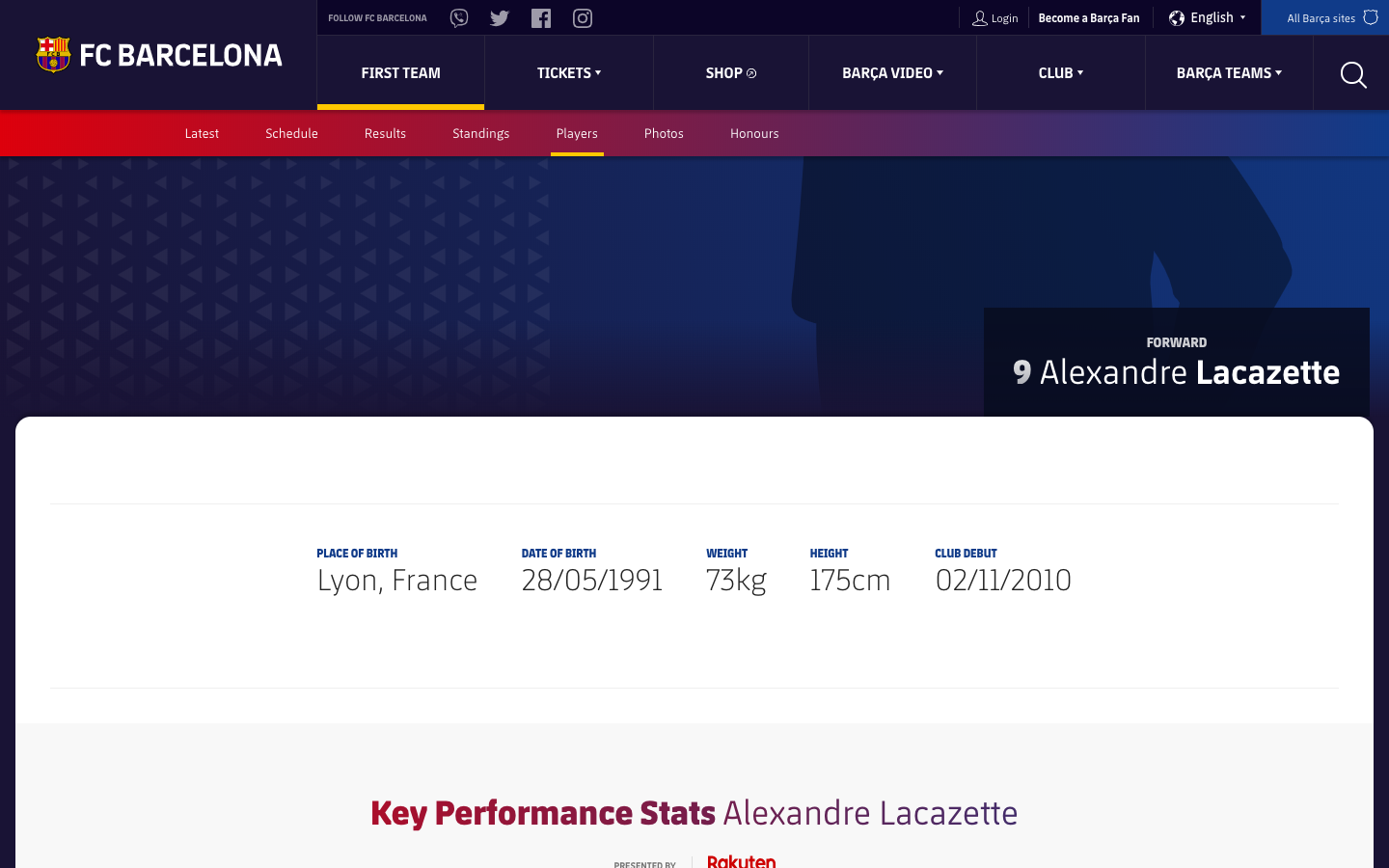 Why Alexandre Lacazette is listed on Barcelona's website