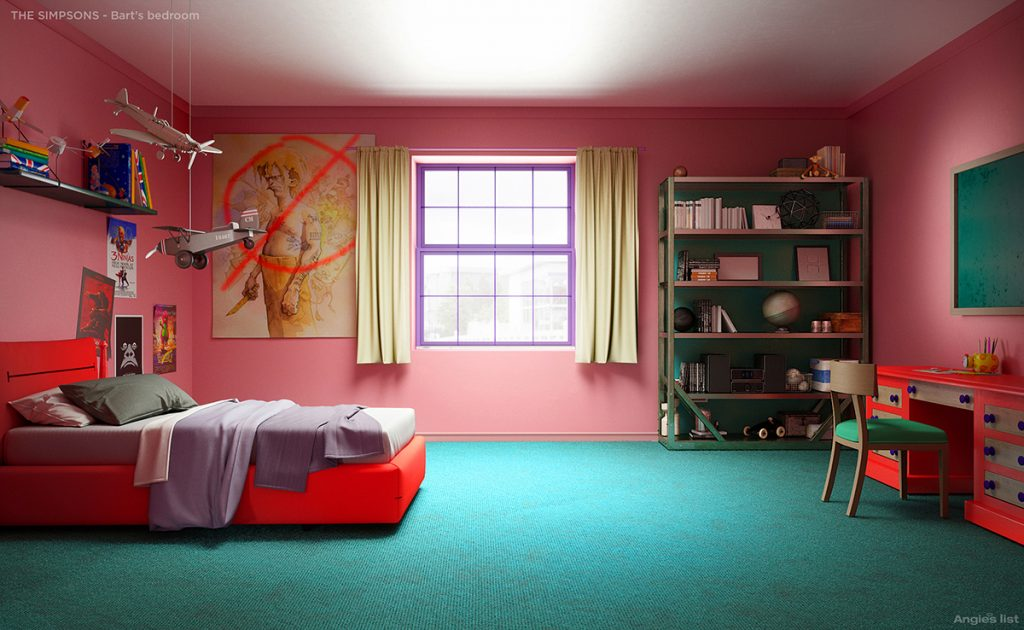 The Simpsons house has been reimagined by interior ...