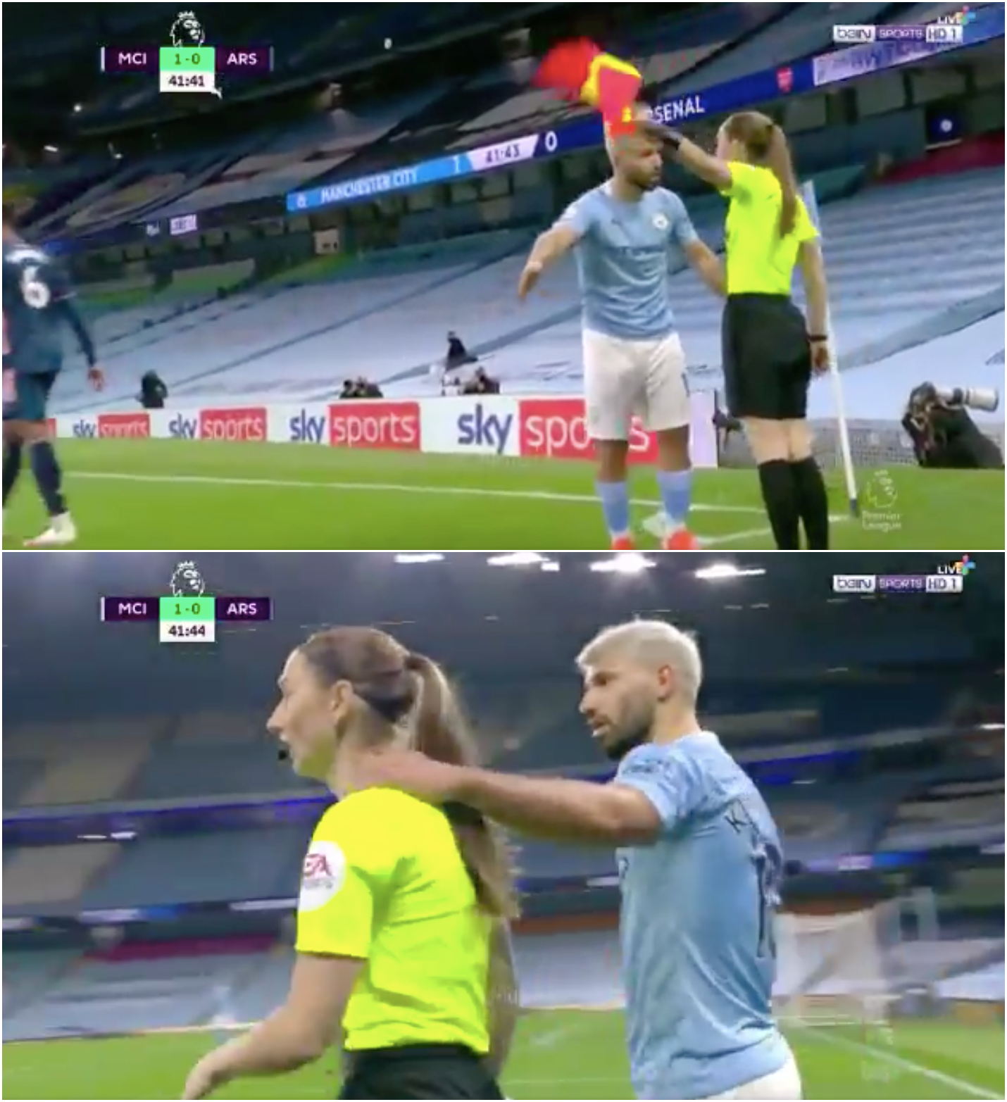 Man City boss Guardiola defends Aguero amid outcry over touching lineswoman