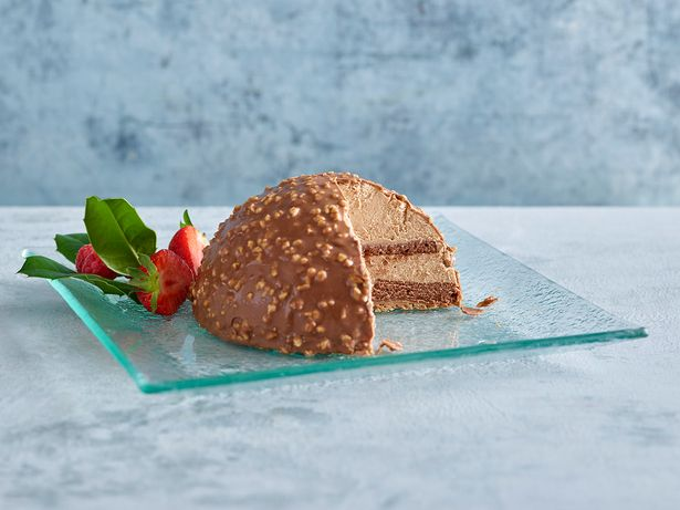 giant ferrero rocher sliced