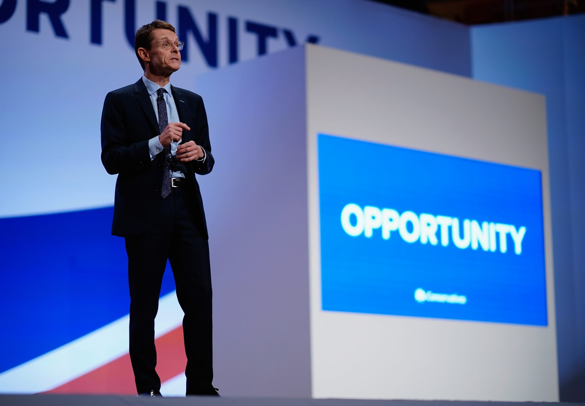 Andy Street on stage at a Conservative party conference