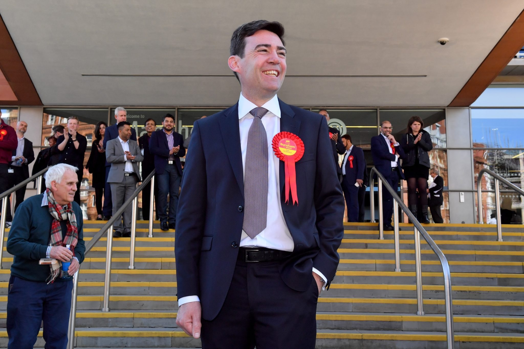 Andy Burnham after being elected as Greater Manchester
