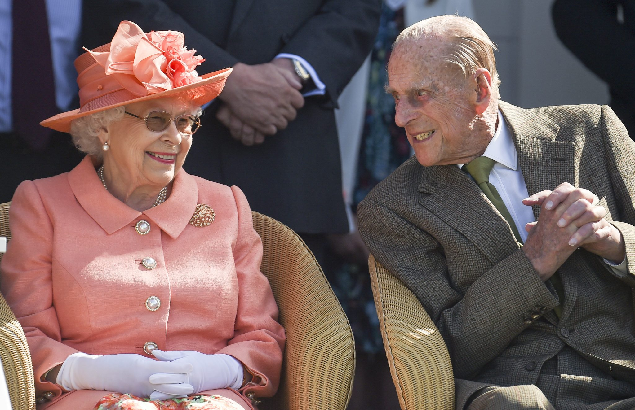 The Queen and Prince Phillip at the Royal Windsor Cup polo match in 2018