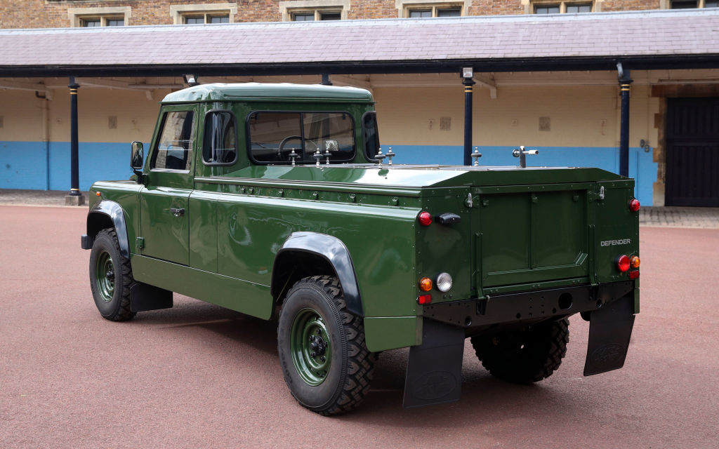 Prince Philip's modified Land Rover defender funeral car