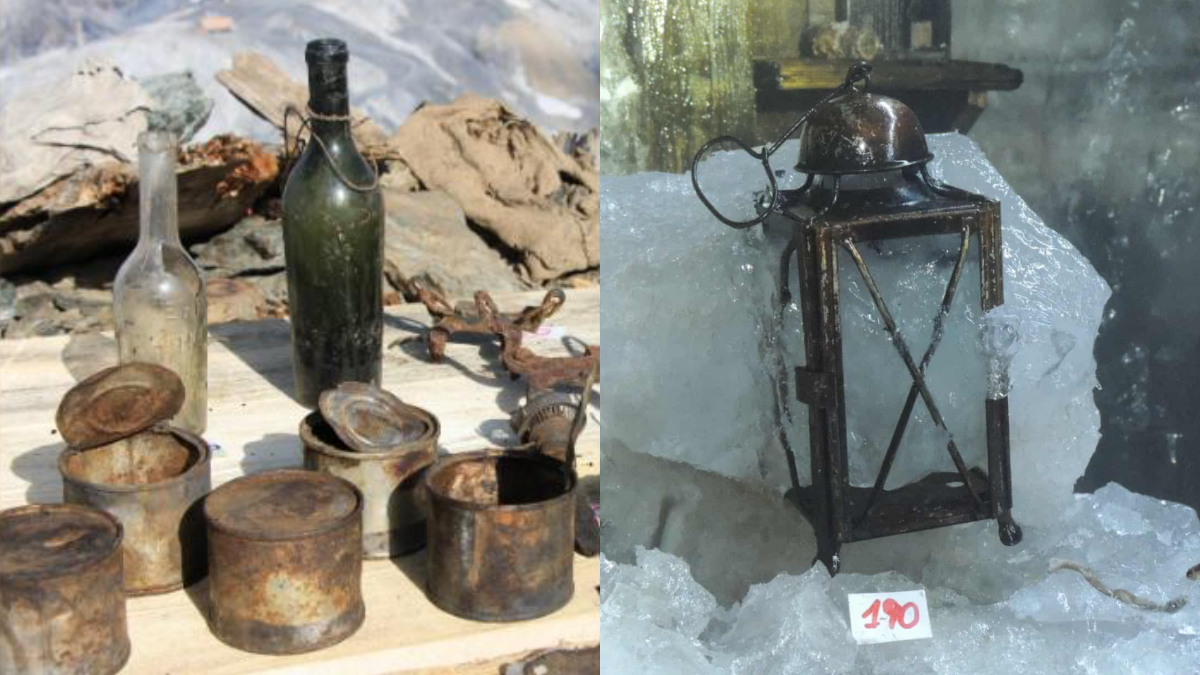 WWI artefacts found in Italian melting glacier