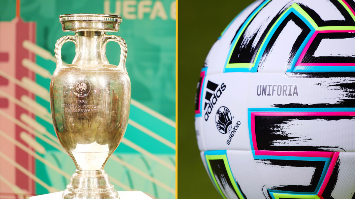 Euro trophy and ball