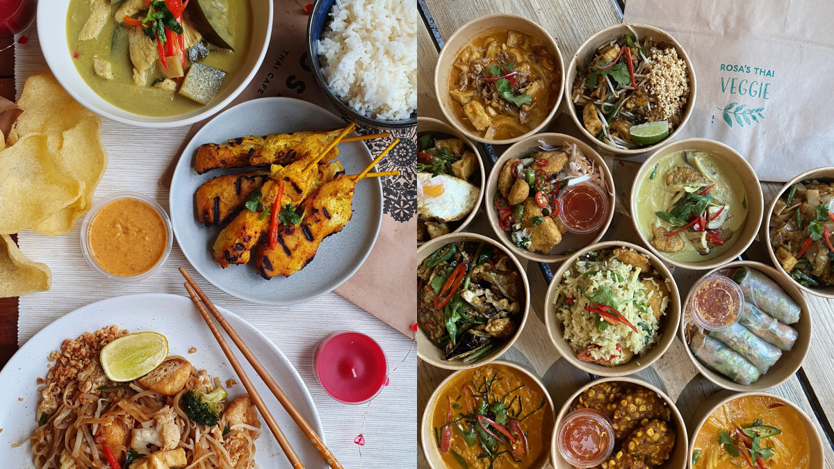 Selection Rosa's Thai Cafe dishes