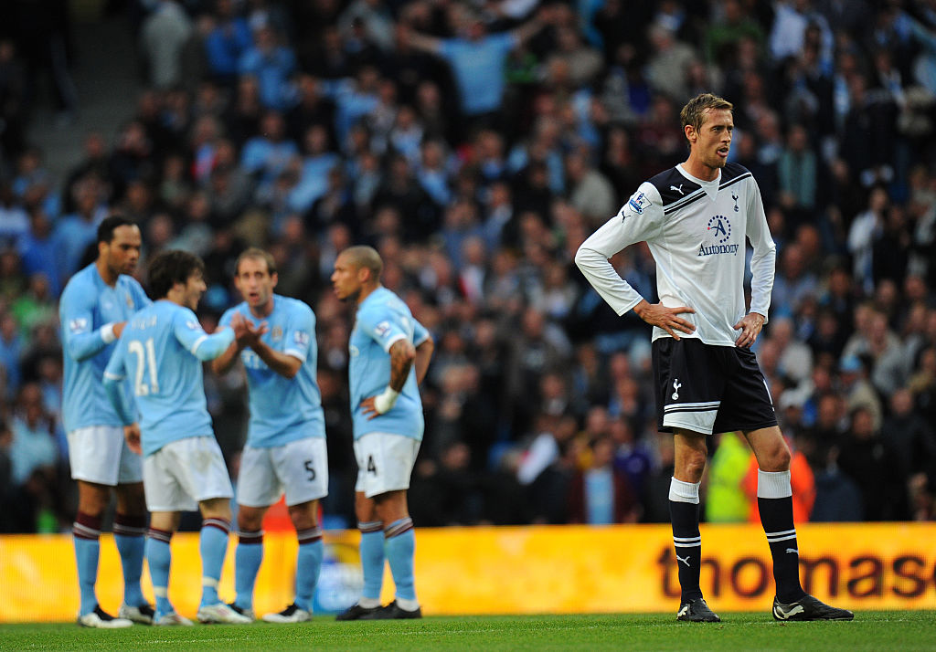 Peter Crouch for Spurs against City