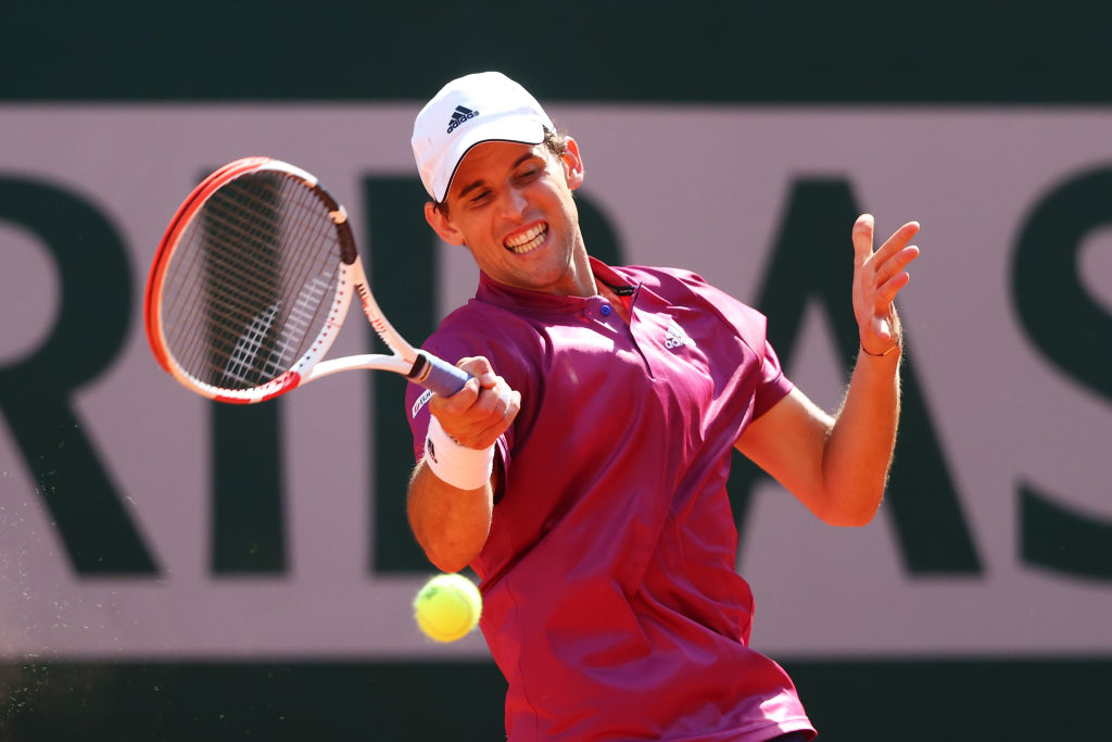 Dominic Thiem injured his wrist during the Mallorca Championships