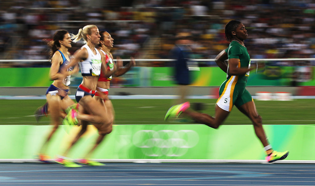 Caster Semenya coasts ahead of the competition back in 2016