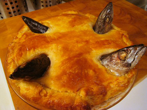 Stargazy pie can be taken away from several places across the UK