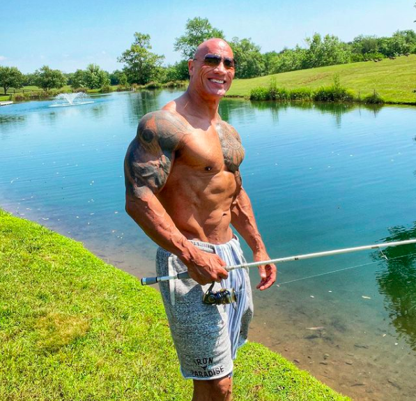 The Rock abs workout