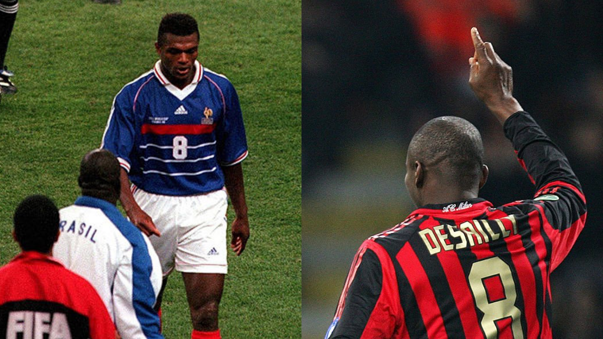 Defender Desailly wore the eight for both France and AC Milan