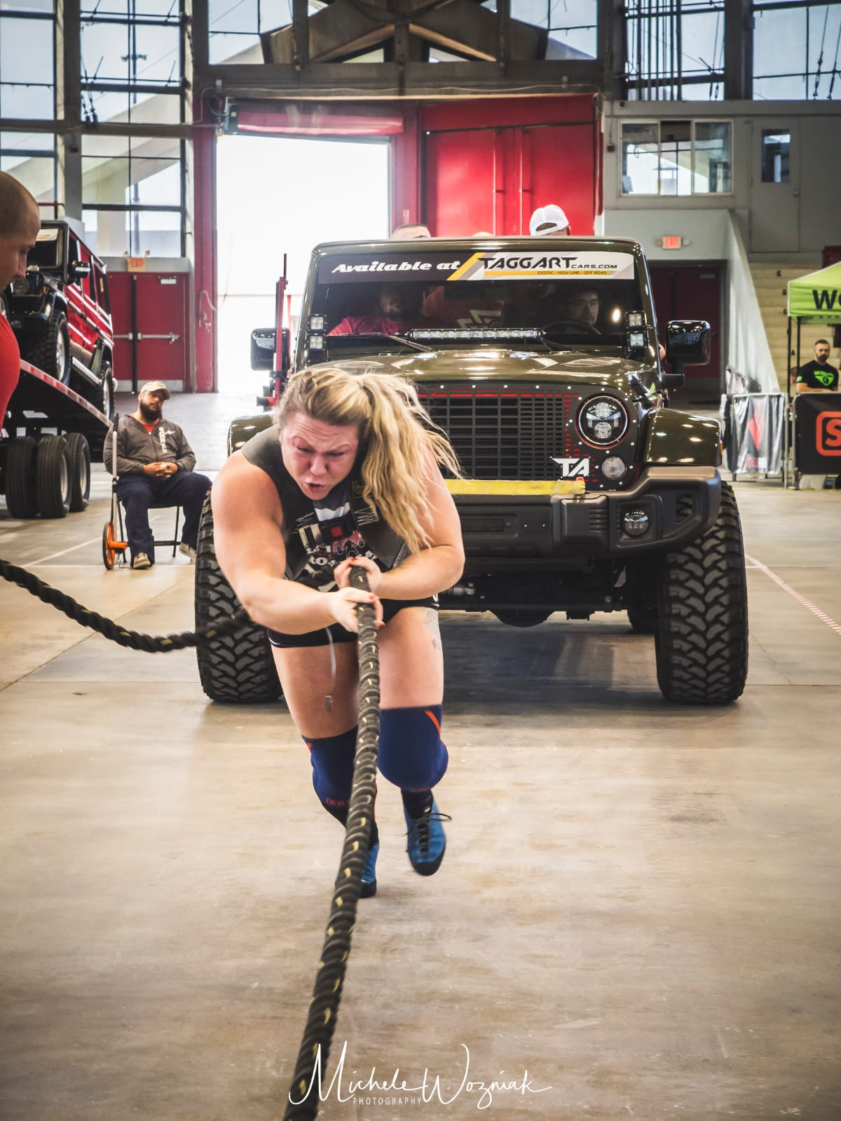 Donna Moore world's strongest woman truck pull