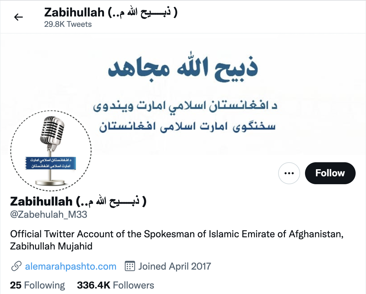 The taliban have been able to provide updates on twitter