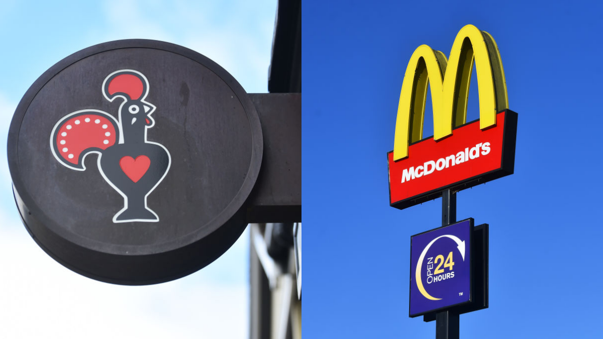 Nandos and McDonalds are also suffering from food shortages