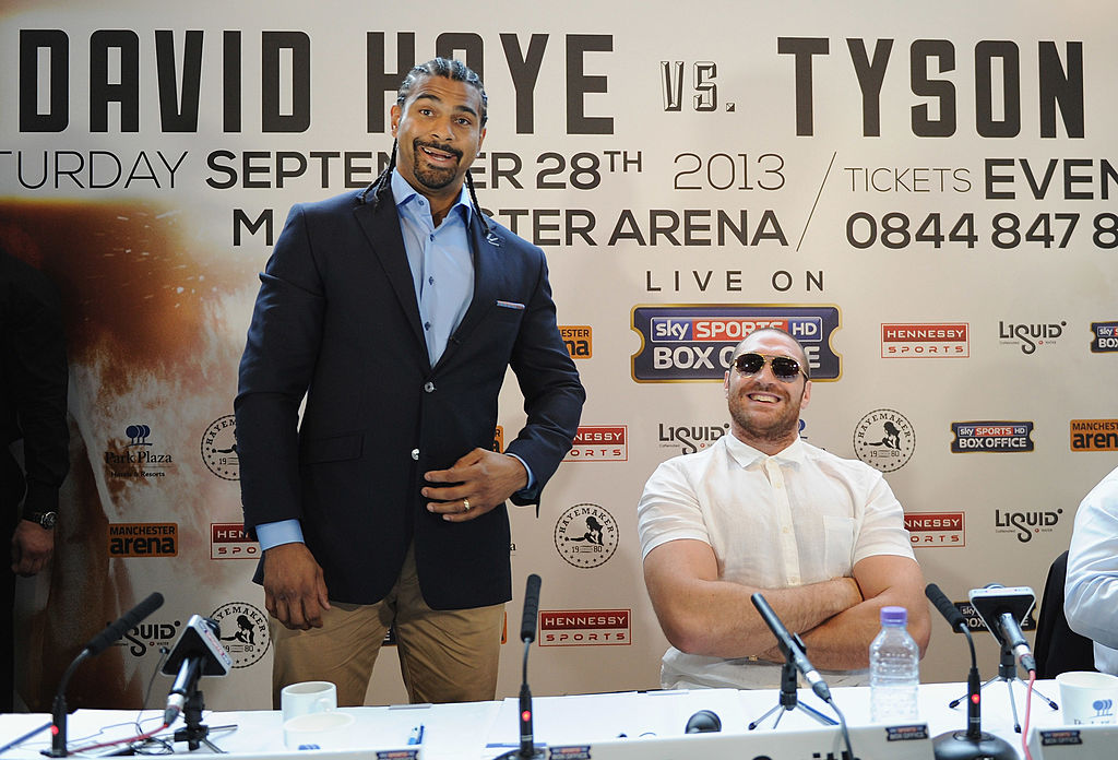 Haye vs Fury was cancelled back in 2013