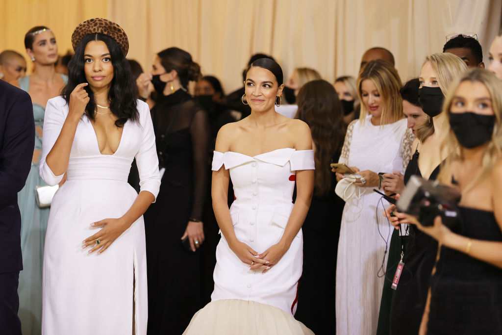 Aurora James and AOC at the Met Gala