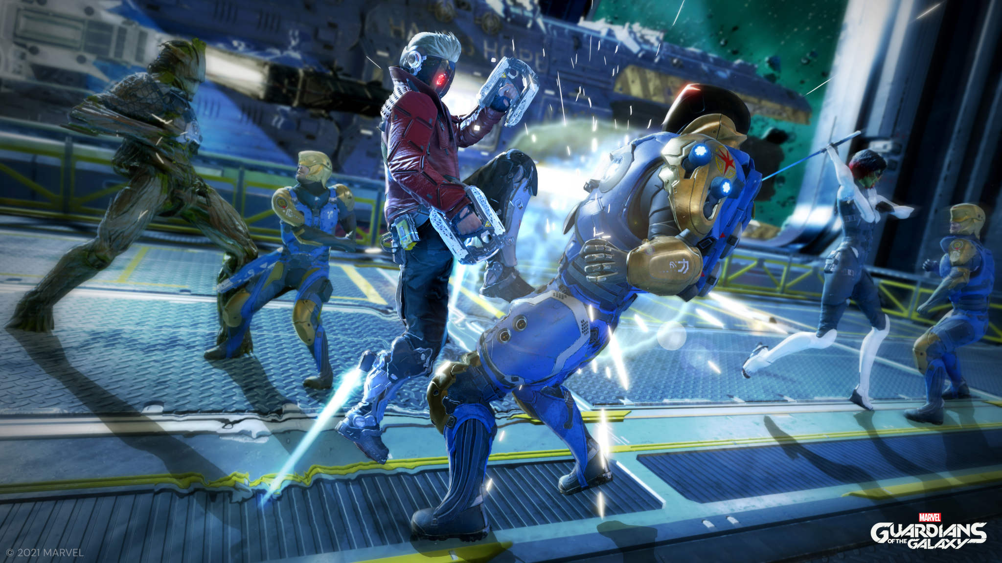 Guardians of the Galaxy team combat